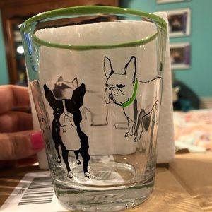 Anthropologie French Bulldog Glass